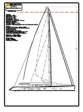 Preliminary design concept for a fast cruising ketch showing the overall sail plan arrangement